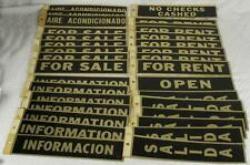 83 Vintage Adhesive Back Hardware Metal Store Signs FOR SALE EMPLOYEES RENT++ HH