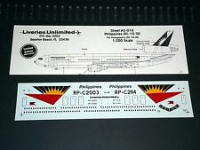 Liveries Unlimited Decals A2-016 1/200 DC-10-30 Philippines (Hasegawa)