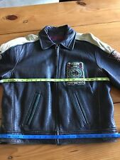 Guess Men's Leather Jacket  Heavy Weight Champ 1981 Varsity Size M Used