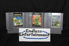 Teenage Mutant Ninja Turtles TMNT Lot 1 2 & 3 I II & III NES Nintendo Tested!