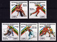 Madagaskar 1117-21 **, Olympiade Winter 1988