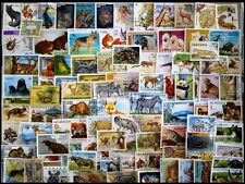Animals, Wild Life 100 All Different Large World Wide Thematic Fauna Stamps