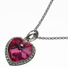8.88 Ct Heart Cut Style Shape Pink Sapphire CZ 18K White Gold Plated Pendant