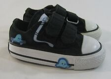 Converse black/white  all star Baby toddler easy strap Pac-man/Ghost  Size.3c