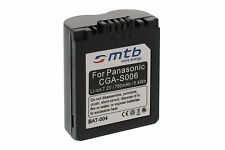 Battery for Panasonic Lumix DMC-FZ38, FZ50 / CGR-S006A, CGR-S006/E, DMW-BMA7