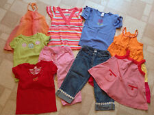 Gymboree Girls Size 8 Lot - Daisy Denim Capri Tulip Tops Striped Red Orange