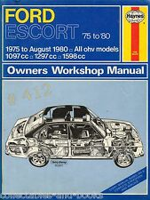 FORD ESCORT OHV Models .. HAYNES Service and Repair Manual 1975 to 1980 Models