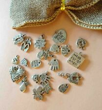 15 Mixed MADE WITH LOVE Smile FOR an ANGEL hand made Charms Vintage Silver Tone
