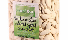 7oz Gourmet Style Bag of Snow White Roasted Salted Pumpkin Seeds In Shell (41.9)