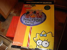 Maggie Stocking Santa Stop Sign With Pole light up lawn decoration