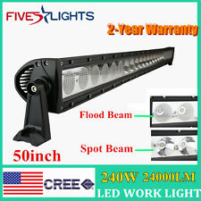 50inch 240w Cree Led Work Light Bar Combo Offroad Driving Lamp JEEP single row