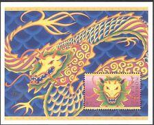 Norfolk Island 2000 YO Dragon/Greetings/Fortune/Lunar Zodiac 1v m/s (n18057a)