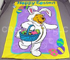 "Easter Bunny Winnie the Pooh ""Hoppy Easter"" 30""x40"" Screen Printed Flag #58974"