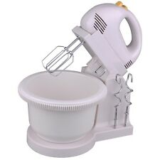 5 Speed Power Hand Stand Mixer Free Bowl Egg Beater Dough Hooks Electric Kitchen