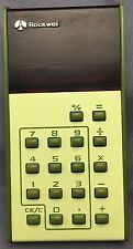 Vintage 1970's Avocado Green 8 Digit Red LED Display Rockwell 9TR Calculator