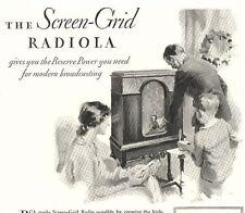 1929 Advertisement ~ RCA RADIOLA Screen-Grid Radiotron Cabinet Model