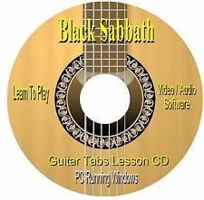 Black Sabbath ** Guitar Tab Lesson Software CD (67 SONGS)