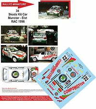 Decals  1/24 réf 34  Skoda Kit Car  Munster - Elst  RAC 1996