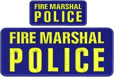 "FIRE MARSHAL POLICE embroidery patches 4 X 10"" and 2x5 hook on back"