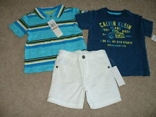 NEW Baby Boys Calvin Klein Jeans 3pc Shorts Set Outfit Size 24M 24 Months NWT