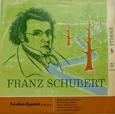 FRANZ SCHUBERT FORELLEN-QUINTETT AMADEUS WEBERSINKE BOSSE HALLMANN ERBEN LP c715