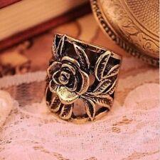 anillo ancho filigrana flor romantico retro gotico punk