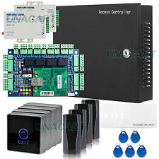 TCP/IP Network Access Control Board Panel Kit Metal Power Box for 4 Doors System