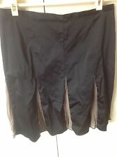 Review Skirt Size 12 Black With Olive Green Silk Trim