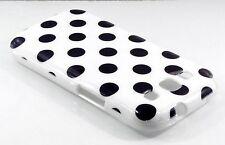 Samsung Galaxy S3 i9300 blanc avec points noirs cas couverture de peau polka points