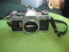 Vintage Canon AT-1 35mm SLR Film Camera Body & Strap Made in Japan No Lens