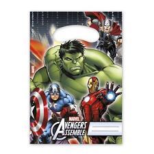 Bolsas Botín Fiesta De Plástico Avengers Montar X 6