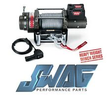 """WARN - 15,000LB RECOVERY WINCH - JEEP TRUCK SUV - M15000 90FT 7/16"""" Wire Cable"""
