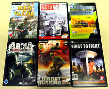 6 PC SPIELE SAMMLUNG ARMA COMBAT MISSION 2 MEN OF VALOR FACES OF WAR EGO SHOOTER