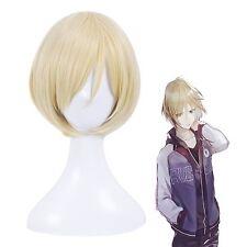 Yuri!!! on Ice Plisetsky Yuri Men's Blonde Short Straight Cosplay Full Wig+