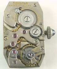 Optima Watch Co. Wristwatch Movement -  Sold 4 Spare Parts, Repair!