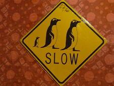 PLAQUES PUBLICITAIRE Panneau routier tolée : traversée de pingouin