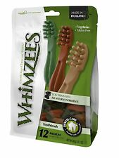 Whimzees Handy Resealable Bag Toothbrush Chews Treats Medium 110mm - 12pcs