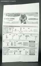 Instructions for SENTINEL MAXIMUS + APE-LINQ BotCon OTFCC 2004 Transformers