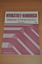 Werkstatthandbuch Wartung und Reparatur Nachtrag HONDA Concerto (1993)
