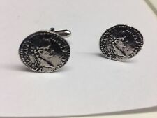 Tiberius WE-C3 SIDE A Roman Coin Cufflinks fine English pewter Cufflink