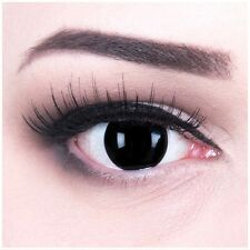 Coloured Contact Lenses Blind Black Contacts Color Halloween + Free Case