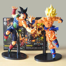 New 2pc Set Dragon Ball Z Son Gokou SCulture Tenkaichi Bardock Battle PVC Figure
