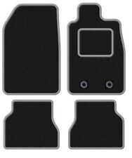 VAUXHALL ADAM 2013 ONWARDS TAILORED BLACK CAR MATS WITH SILVER TRIM