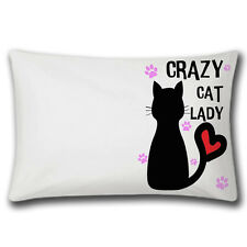 Crazy Cat Lady Pillow Case | Cusion | Bedding | Gift Idea | Quality Pillow Cases