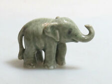 Handicraft Miniature Collectible Porcelain Ceramic Gray Young ELEPHANT Figurine