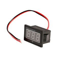 Waterproof DC 2.5 to 30V Red LED Panel Meter DC Digital Voltmeter Two-wire Black