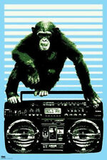 STEEZ MONKEY ON BOOM BOX POSTER ART PRINT NEW 24X36 FREE SHIPPING