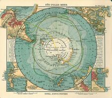 """First Map of Antarctica 1906 World Map  CANVAS PRINT poster 24""""X16"""""""