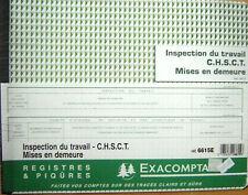 Registre Exacompta Inspection du travail CHSCT  mise en demeure Réf 6615 /P4