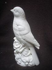 """C055 - Bird - Ceramic Bisque Bird: 7.5"""" Oriole with Flowers - Ready to Paint"""